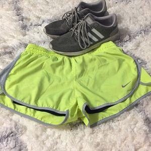 Neon Yellow Nike running shorts